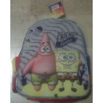 Backpack Mochila Kinder Bob Esponja 3d