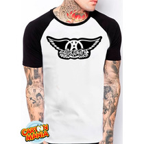 Camiseta Raglan Aerosmith Hard Rock Blues Steven Tyler 2