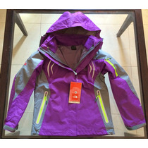 Campera North Face 3 En 1 Gore-tex + Microfibra De Mujer