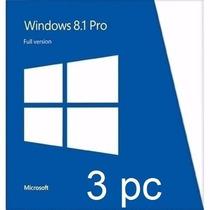 Licencia Windows 8.1 Pro 3 Pc 32-64 Bits