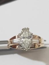 9b63924b893e Anillo Dama Compromiso Diamante 1.52 Quilates Oro 750