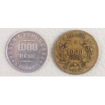 2 Moedas De 1000 Réis 1907 2 1927 Lote
