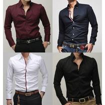 Camisa Social E Casual Masculina Slim Fit Novos Modelos