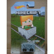 Hot Wheels 2016 Minecart Alex Minecraft