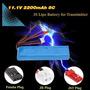Hot 11.1v 2200mah 8c 3s Li-po Batería 3 Conector Para