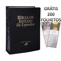 Bíblia Do Expositor + 200 Folhetos + Bíblia Da Mulher + Capa