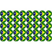 50 Bottons/boton/buttons De 2.5 Bandeira Brasil Pronta Entr