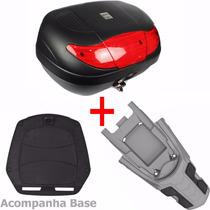 Bau Moto 45 Litros + Bagageiro Nxr Bros 125 150 2009 A 2014