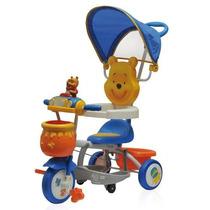 Triciclo Con Barral Winnie Pooh Disney Sr-45r