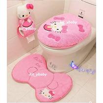 Hello Kitty, Set De Baño 4 Piezas, Y De Regalo Papel Único