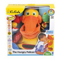Peluche De Apego Con Actividades Pelicano Hambriento K´s Kid