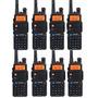 Kit 8 Rádio Dual Band Baofeng Uv-5r 136-174/400-520 Mhz+fone