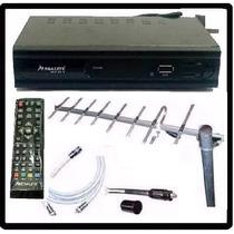 Kit Tv Digital Tda Antena Ext Cables Decodificador Gtia