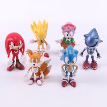 Sonic The Hedgehog Pvc Action Figure Com 6 Personagens