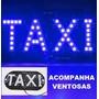 Letreiro Luminoso 45 Leds Para Taxi Uso Interno Azul