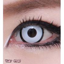 Olhos Cosplay - Lens Branca - Zombie - Vampiro - Halloween