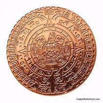 Nueva !! Medalla Cobre Calendario Azteca 1 Onza !!!