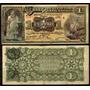 Bk-yuc-63 Billete Del Banco Peninsular Mexicano De 1 Peso