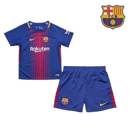 Uniforme Infantil Camisa Shorts Barcelona 2018 Oficial Nike - R  130 ... 1ba60f74bbb14