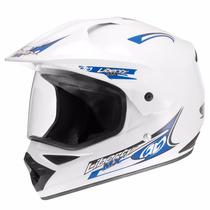 Capacete Motocross Liberty Mx Vision Branco 58 C/ Viseira