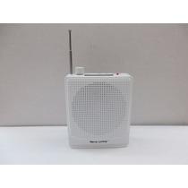 Caixa De Som Portátil Amplificada Com Microfone E Cinta Nova