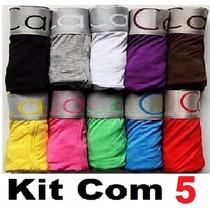 Kit Cueca Boxe 5 Calvin Klein Kit Com * Pronta Entrega*