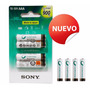 Pilas Recargables Sony Aaa Cycle Energy 900mha X4 B4gn
