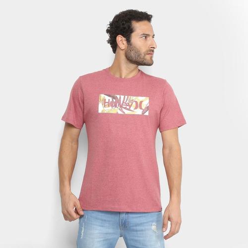 Camiseta Hurley Silk O o Tropic Masculina - R  59 51e581dae19
