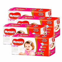 4 Pañales Huggies Natural Care P/ellas Superpack Xg 44u