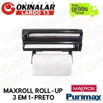 Porta Rolos Maxroll 3 Suportes Papel Toalha Pvc E Alumínio