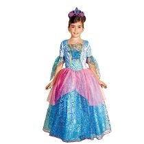Disfraz Disfraces Princesa Fantasia Azul Barbie Vestido