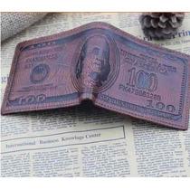 Billeteras Hombre Cuero Exclusivas Importadas Modelo Dolar