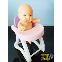 Boneca Bebê Hora De Comer Cadeira Da Papinha Baby Cotiplas