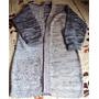 019 Crr- Casaco De Tricô- Feito Com Lã- Mesclado Com Preto