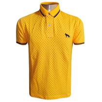 Camisa Polo Acostamento Amarela Bolinha Original