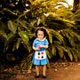 Vestido Alice No País Das Maravilhas 0 A 3 Anos 100% Algodão