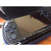 Psp 3000 4gb Desbloqueado + 5 Jogos Originais + Case