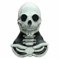 Mascara La Huesuda Blanca Latex Halloween Dia D Muertos
