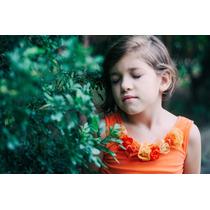 Blusas Para Niñas Con Flores De Tela
