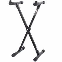 Suporte Pedestal Apoio X Teclado Musical Ibox X30 Preto