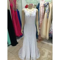 Vestido Noiva Casamento Sereia Renda Rendado Pronta Entrega