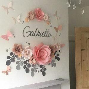 Decoraci n flores gigantes papel toda ocasi n en mercado libre - Letras para paredes infantiles ...