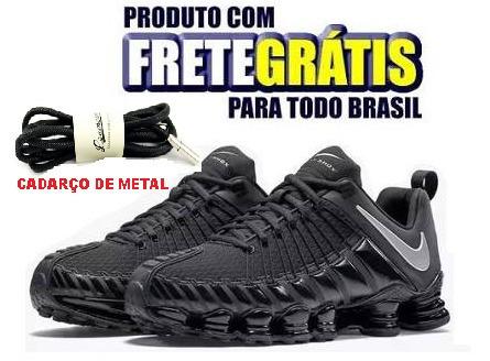 b2279d46917 Tênis 12 Molas Preto Frete Grátis Cadarço De Metal - R  249