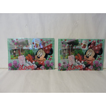 Minnie Mouse Folders 10 Pz Recuerdos Pvc Broche T Carta