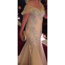Vestido Gregory Longo De Gala / Festa - Champagne - Tam: G