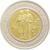 Moeda Direitos Humanos Andorra 1998 20 Diners Prata E Ouro