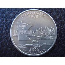 U. S. A. - Minnesota, Moneda De 25 Centavos (cuarto), 2005