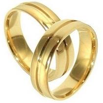 Garantia Eterna! Alianças Cor De Ouro Moeda Antiga Par 6mm