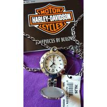 Bulova Harley Davidson Feminino ,relógio Na Corrente (novo)