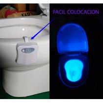 Luz Led Inodoro Decoración 8 Colores Sensor De Movimiento